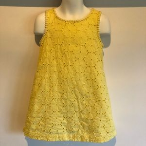 Osh Kosh Genuine Kids 4t Yellow Eyelet Dress